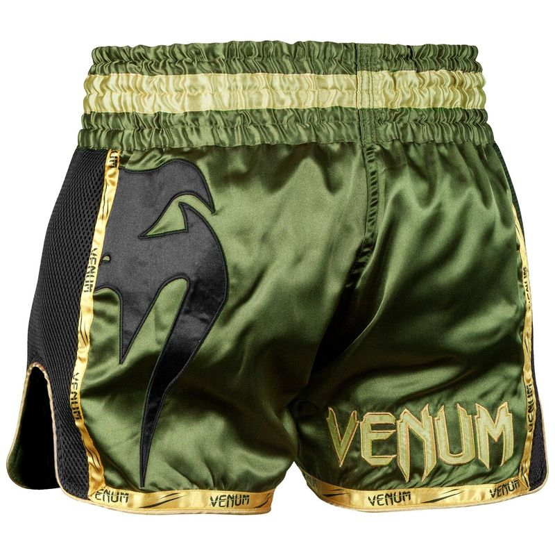 VENUM GIANT MUAY THAI SHORTS KHAKI / BLACK – image 4