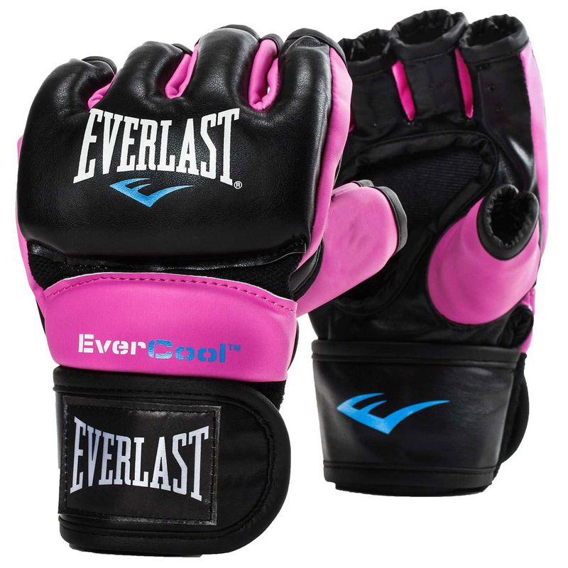 Everlast Everstrike MMA Grappling Gloves Closed Thumb - Synthetic Leather in Black / Pink – image 1