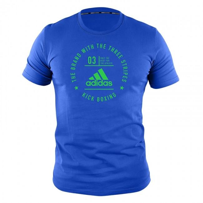 "adidas Community T-Shirt ""Kickboxing"" blue / shock lime green"