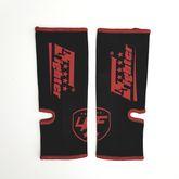 4Fighter Vendas de tobillo de combate / protectores de tobillo para niños elásticos negros con logo rojo 001
