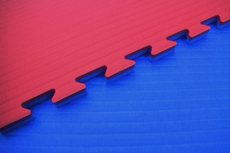 4Fighter 2cm martial arts mat DOUBLE TATAMI blue-red – image 1