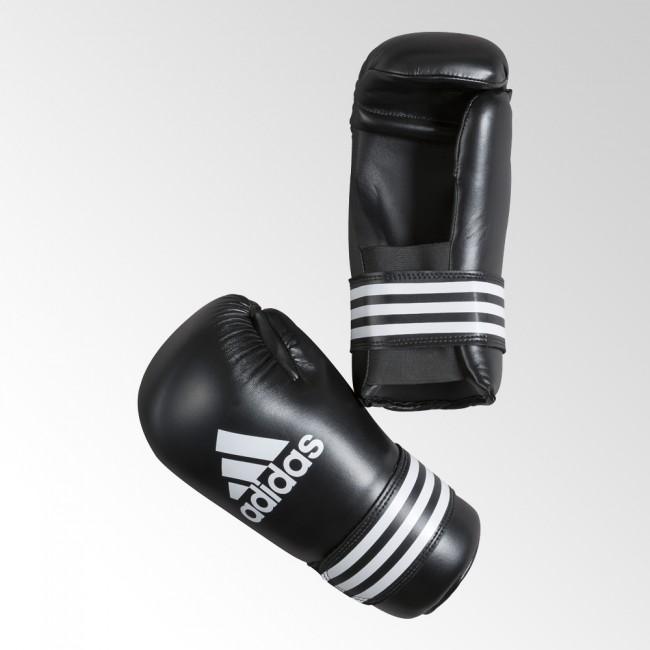 adidas Semi Contact Gloves schwarz weiß Größe L – Bild 1