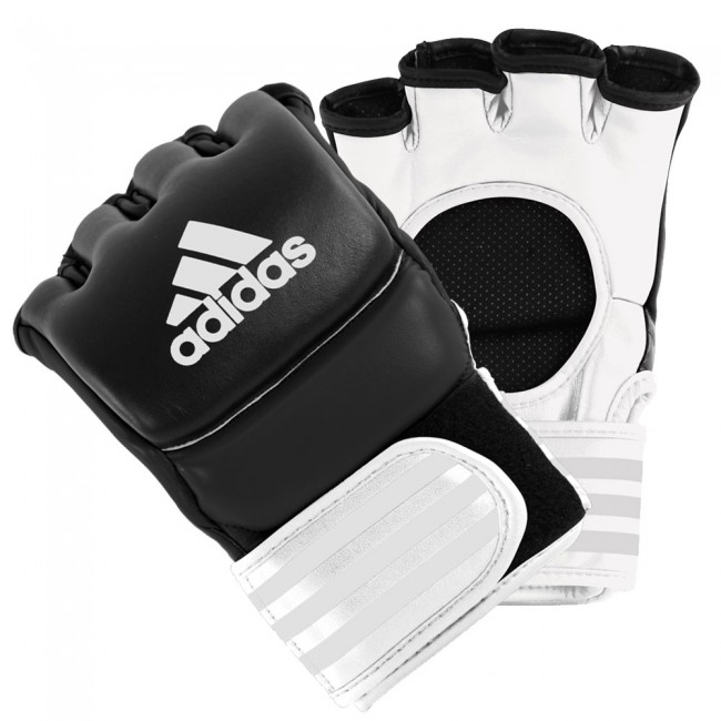 adidas Ultimate Fight MMA Glove black white size L – image 1