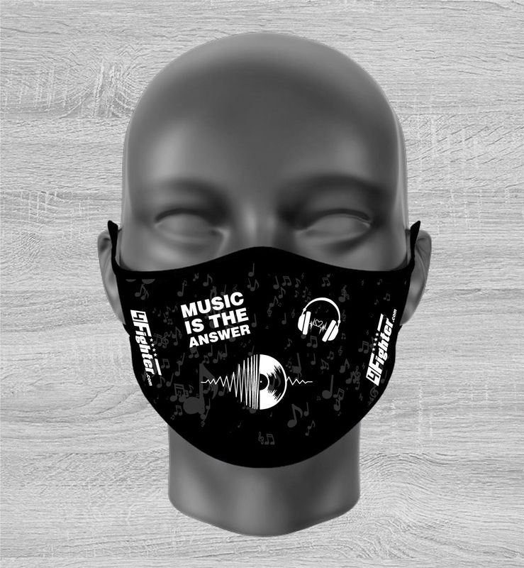 """4Fighter Fashion Mask """"Music is the answer"""""""