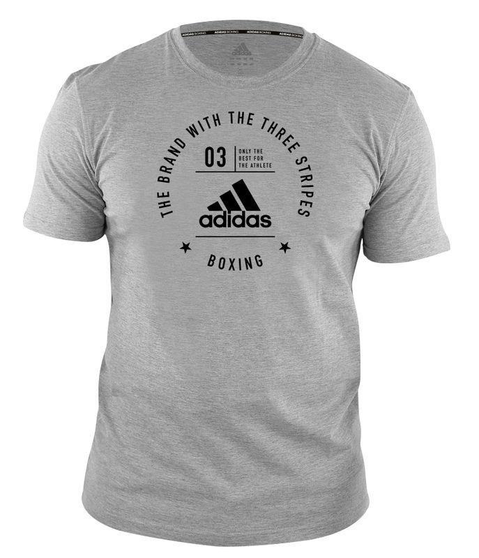 adidas Community T-Shirt Boxing grau schwarz