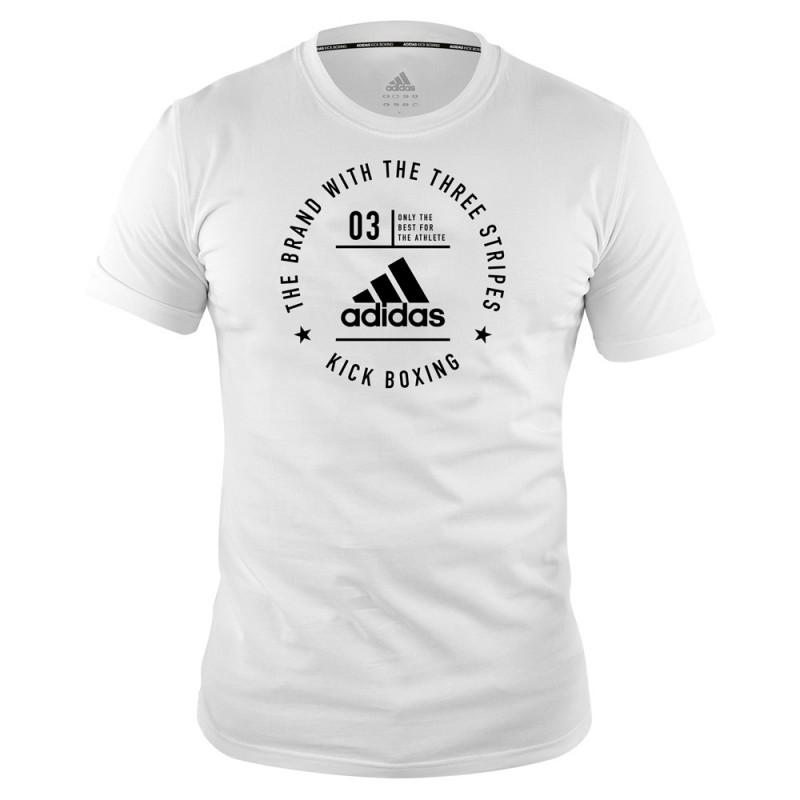"adidas Community T-Shirt ""Kick Boxing"" weiß schwarz"