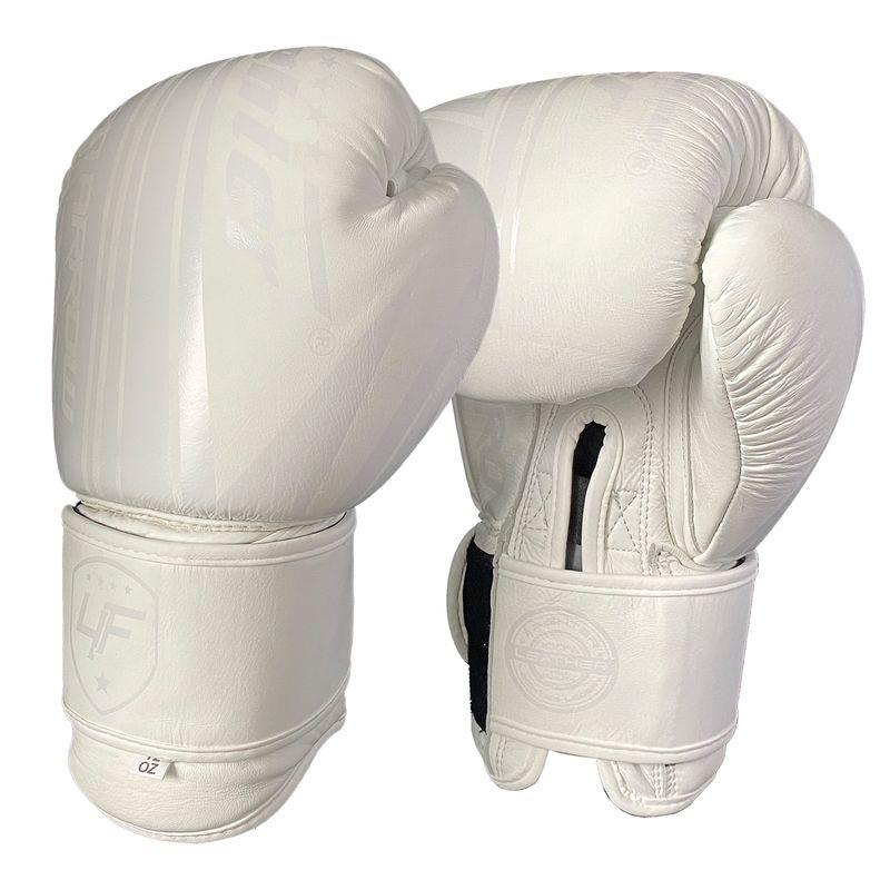 4Fighter Leder Boxhandschuhe White King