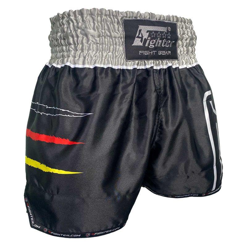 4Fighter Muay Thai Shorts National Deutschland in coolem, schwarzen Germany Design Sublimation Druck