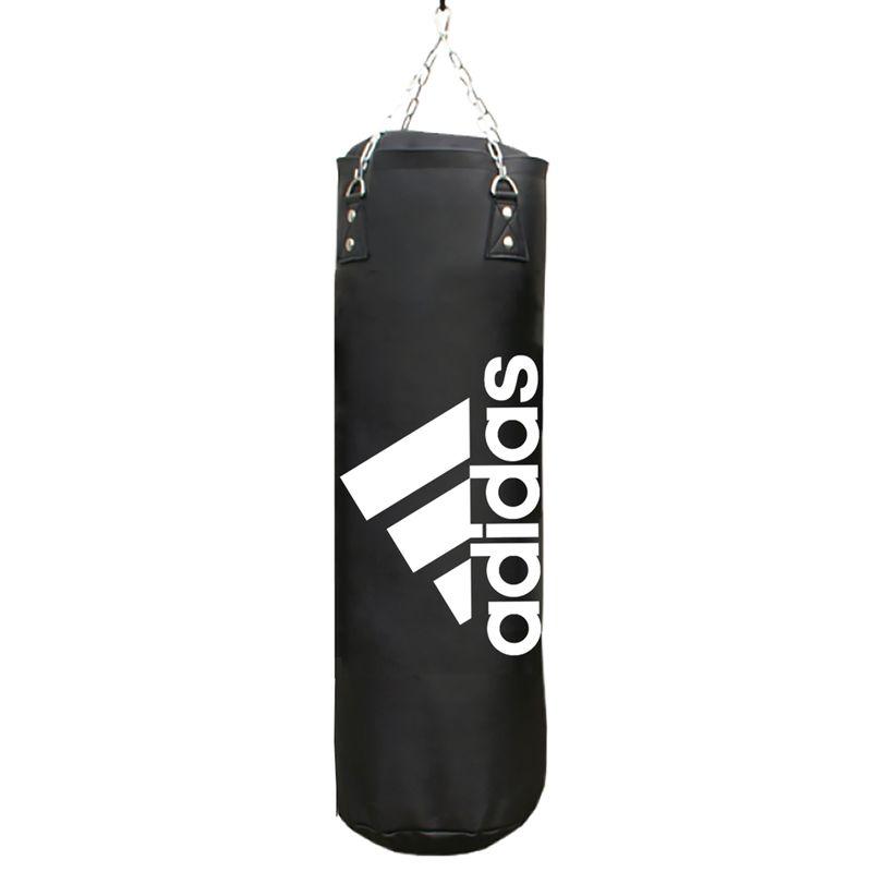 Adidas Boxsack Lux 90 cm x Ø 30 cm gefüllt ± 20 kg schwarz mit Logo