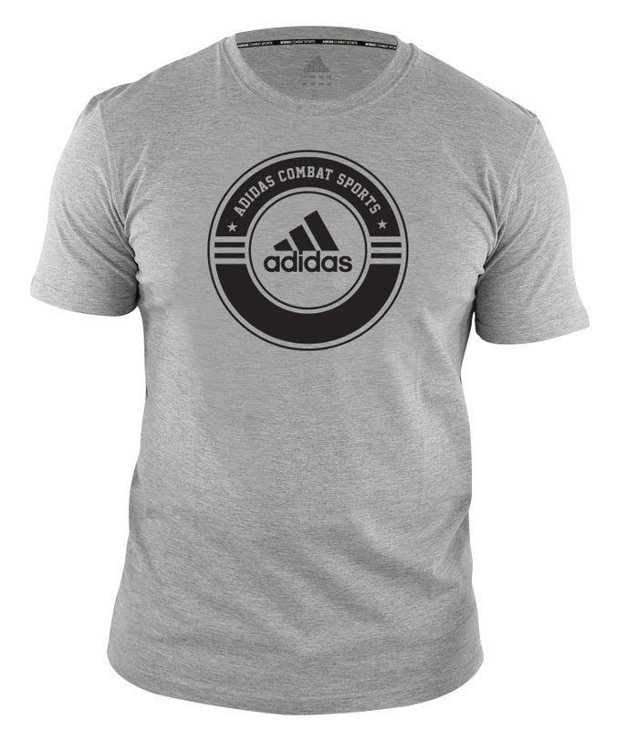 adidas T-Shirt Combat Sports grau schwarz