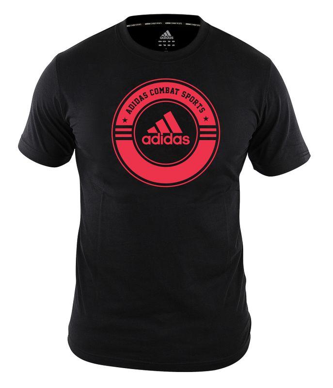 adidas T-Shirt Combat Sports schwarz rot