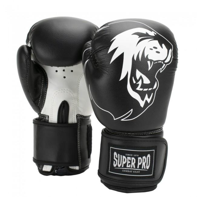 Super Pro Combat Gear Talent Kinder Boxhandschuhe schwarz weiß