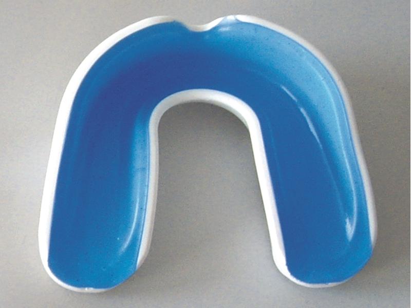Zahnschutz Wacoco A+ weiß blau mit Box