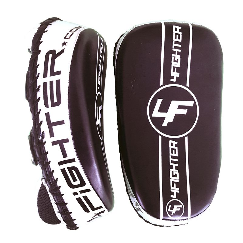 4Fighter Thai PAO  Kick Pad Muaythai Kickpads - Leather black-white – image 1