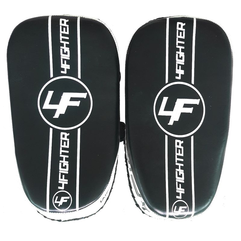 4Fighter Thai PAO  Kick Pad Muaythai Kickpads - Leather black-white – image 3