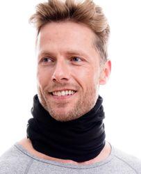 Polar Halstuch mit Fleece - schwarz uni 001