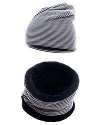 Hilltop Kinder Winterset, Kurz LOOP-Schal mit Teddy Fleece und passende Beanie-Mütze, Wintermütze, Winterschal, für Jungen und Mädchen 001