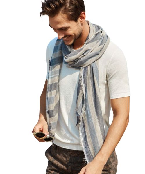 Halstuch Herren, Herrenschal, Hochwertiger Marken Schal, hergestellt in Italien, Geschenk für Frauen und Männer – Bild 1