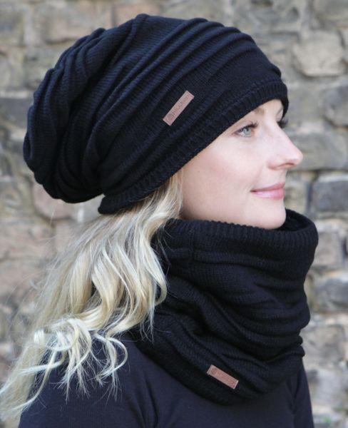 HILLTOP Winter Set für Mann und Frau, warmer Schal mit Teddy Fleece und passende Mütze, Warm Beanie Wintermützen für Damen und Herren – Bild 11