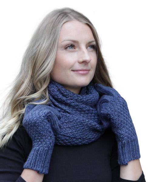 HILLTOP Winter Kombi Set aus Schal und wahlweise Handschuhe oder Handwärmer, 2-teilig, verschiedene Farben, Strickschal & Strick-Handschuhe für Damen – Bild 11