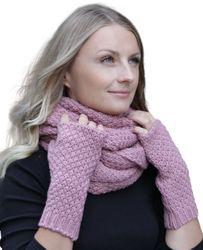 HILLTOP - Winter Kombi Set aus Schal und wahlweise Handschuhe oder Handwärmer, 2-tlg., versch. Farben 001
