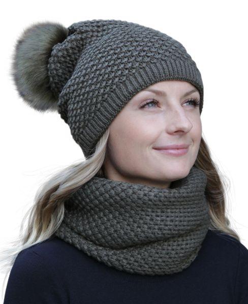 HILLTOP – Winterset aus Schal und doppellagiger Mütze – Bild 2