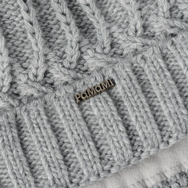 PaMaMi Damen Thermo Wintermütze   warme Strickmütze mit Bommel   Gestrickte weiche Bommelmütze   Slouch Beanie Hergestellt in EU   Farbenauswahl 18544  – Bild 6