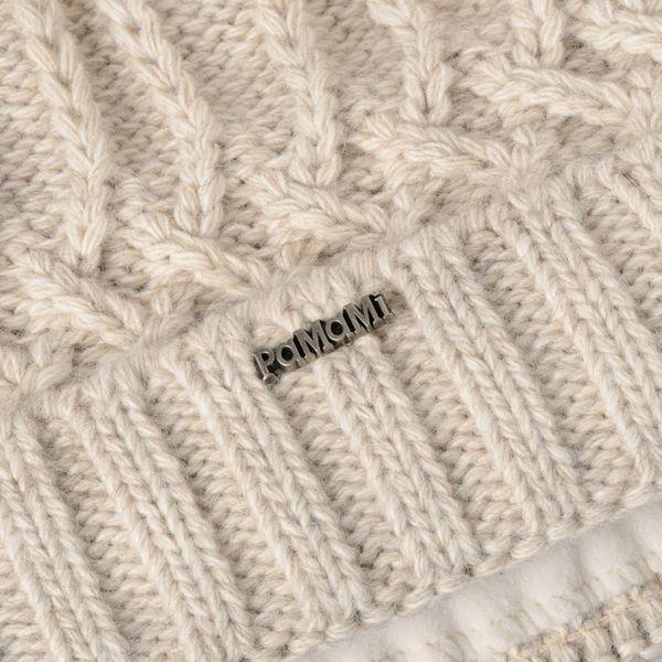 PaMaMi Damen Thermo Wintermütze | warme Strickmütze mit Bommel | Gestrickte weiche Bommelmütze | Slouch Beanie Hergestellt in EU | Farbenauswahl 18544  – Bild 8