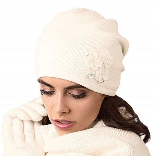 Kamea Crema Damen Mütze Wintermütze Kopfbedeckung  – Bild 3