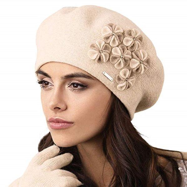 Kamea Gorycja Damen Baskenmütze Kopfbedeckung Eleganz  – Bild 3