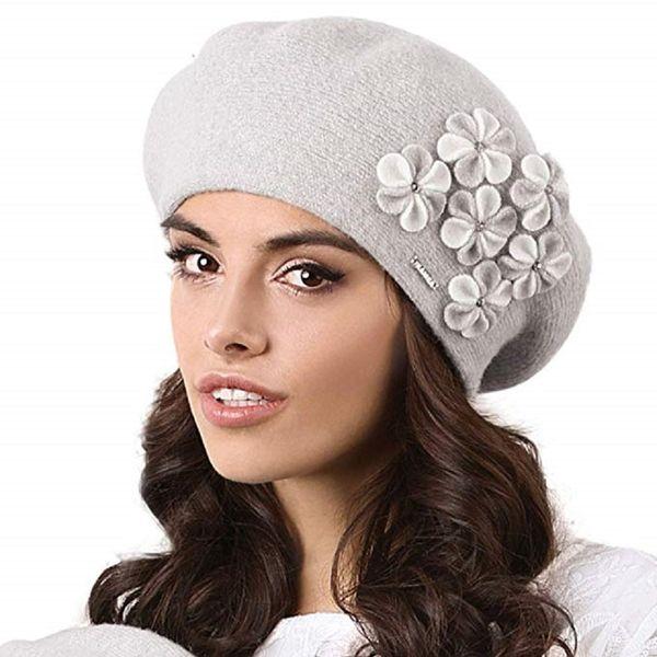 Kamea Gorycja Damen Baskenmütze Kopfbedeckung Eleganz  – Bild 2