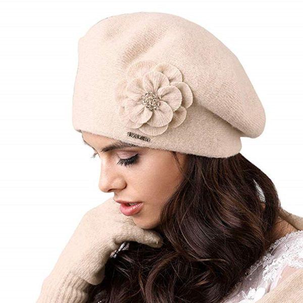 Kamea Vicenza Damen Baskenmütze Eleganz Kopfbedeckung Mütze  – Bild 2
