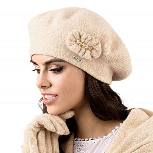 Kamea Pesaro Damen Baskenmütze Kopfbedeckung Herbst Winter  – Bild 1