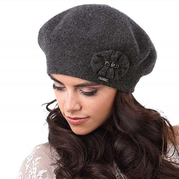 Kamea Pesaro Damen Baskenmütze Kopfbedeckung Herbst Winter  – Bild 3