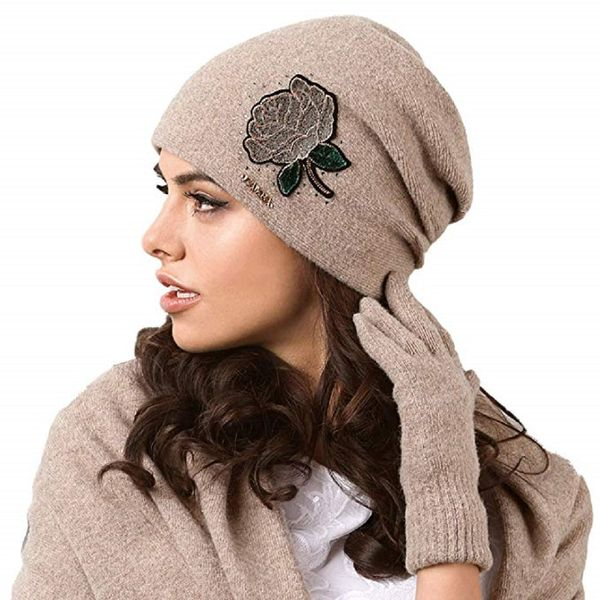 Kamea Rossano Damen Mütze Wintermütze Kopfbedeckung