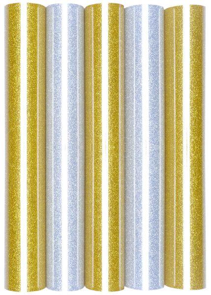 5er Set Glitter/Glitzer A4 Transferfolie/Textilfolie zum Aufbügeln auf Textilien - perfekt zum Plottern geeignet – Bild 10