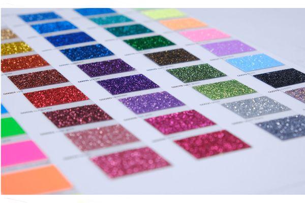 5er Set Glitter/Glitzer A4 Transferfolie/Textilfolie zum Aufbügeln auf Textilien - perfekt zum Plottern geeignet – Bild 15