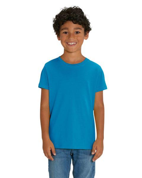 Hochwertiges Kinder T-Shirt aus 100% Bio-Baumwolle für Mädchen und Jungen. Eignet sich hervorragend zum bedrucken. (z.B.: mit Transfer-Folien/Textilfolien)  – Bild 1
