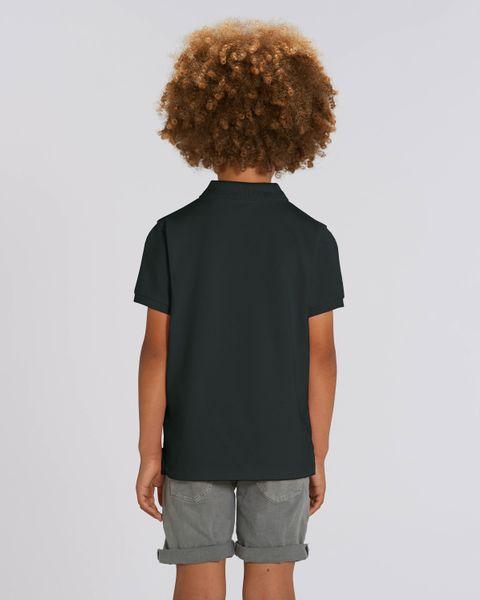 Hochwertiges Kinder Poloshirt aus 100% Bio-Baumwolle für Mädchen und Jungen. Eignet sich hervorragend zum bedrucken. (z.B.: mit Transfer-Folien/Textilfolien) – Bild 6