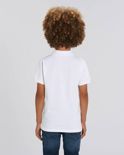 Hochwertiges Kinder Poloshirt aus 100% Bio-Baumwolle für Mädchen und Jungen. Eignet sich hervorragend zum bedrucken. (z.B.: mit Transfer-Folien/Textilfolien) – Bild 16