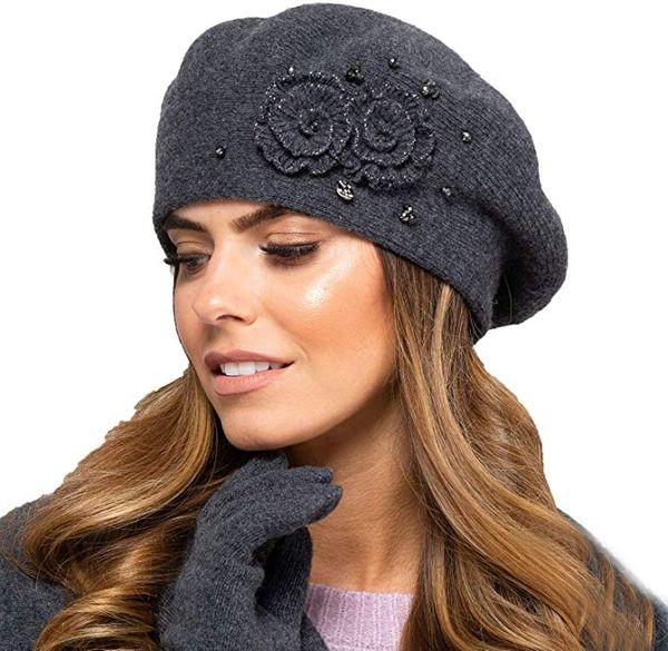 Kamea Damen Baskenmütze Kopfbedeckung Herbst Winter Barcelona – Bild 4