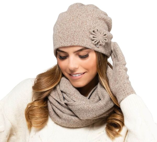 Kamea Winterset für Damen Kansas 2-Teilig bestehend aus Loop-Schal und Wintermütze, Beanie, Damenschal als Winter-Schal - verschiedene Farbauswahl – Bild 5