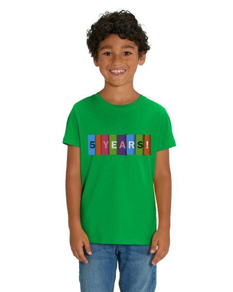 HILLTOP Hochwertiges Kinder T-Shirt, 5. Geburtstag Tshirt aus 100% Bio Baumwolle, für Geburtstagsfeier oder Kindergarten, für Jungen und Mädchen – Bild 5