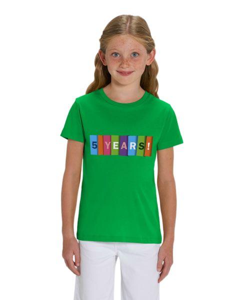 HILLTOP Hochwertiges Kinder T-Shirt, 5. Geburtstag Tshirt aus 100% Bio Baumwolle, für Geburtstagsfeier oder Kindergarten, für Jungen und Mädchen – Bild 6