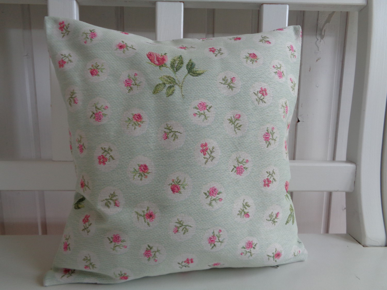 kissen pastell r schen t rkis rosa 40x40 ohne f llung. Black Bedroom Furniture Sets. Home Design Ideas