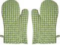 Ofenhandschuh Karo Vichy Grün 1 Paar