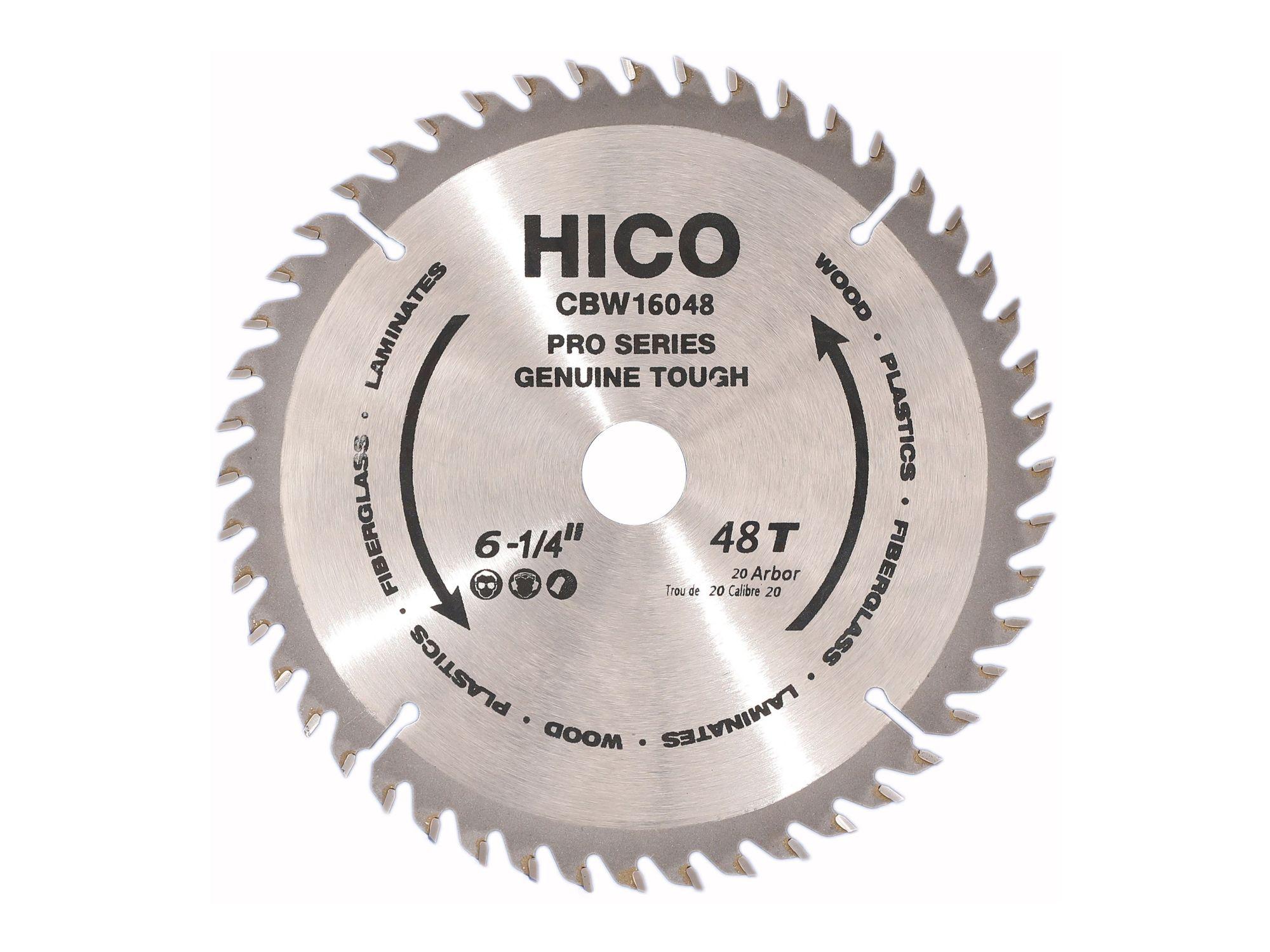 HICO Sägeblatt für Kreissägen 160mm 48 Zähne Wechselzahn Hartmetall