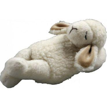 """Schaf """"Timmy"""" schlafend, mit schafwolle gefüllt"""