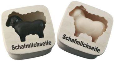 Holzdose mit Schafsmilchseife