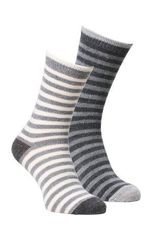Alpacka Socken 2-er Pack Kinder, gestreift
